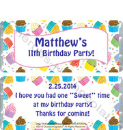 Cupcake Birthday Candy Wrapper