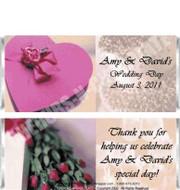 Wedding Cake Candy Bars Sample