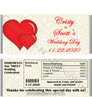 Lace & Hearts Candy Bar Wrappers with Nutritional Label