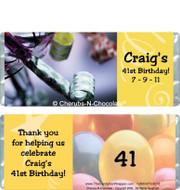 Celebration Candy Bars Sample