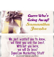 Presently Yours Personalized Candy Bars Sample