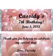 Pink Balloons Candy Bars Sample