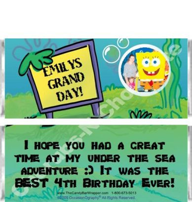 Under the Sea 1 Candy Bars Sample