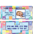 Birth Announcement Candy Bars Sample