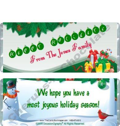 Green Christmas Candy Bars