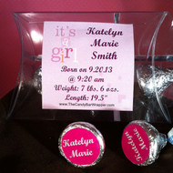 Pink Birth Announcement Hershey Kiss Pillow Pack