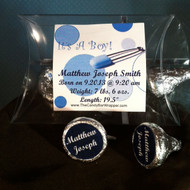 Blue Safety Pin Hershey Kiss Pillow Pack