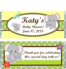 Elephant Yellow Baby Shower Candy Wrapper