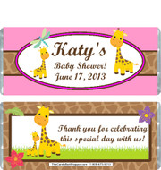 Giraffe Baby Shower Candy Wrappers