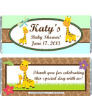 Giraffe Green Baby Shower Candy Wrapper