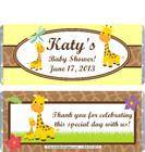 Giraffe Yellow Baby Shower Candy Wrapper