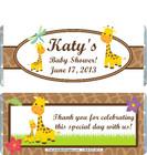 Giraffe White Baby Shower Candy Wrapper