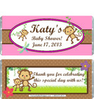 Monkey Pink Baby Shower Candy Wrapper