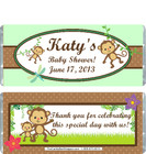 Monkey Green Baby Shower Candy Wrapper