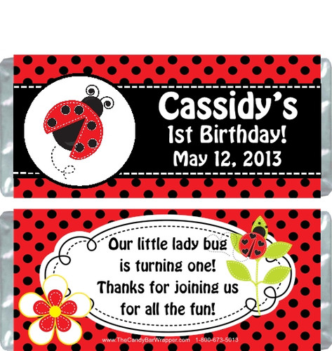 Ladybug Birthday Party Wrappers