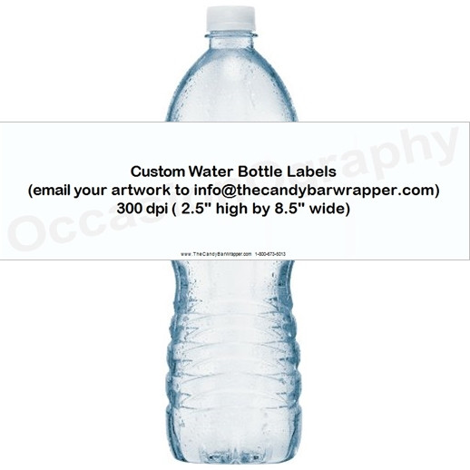 Custom Design Water Bottle Labels The Candy Bar Wrapper