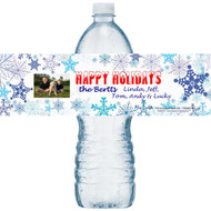 Snowflake Water Bottle Labels