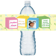 Baby Blocks Water Bottle Labels