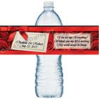 Elegant Roses Water Bottle Labels