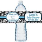 Blue Zebra Water Bottle Labels