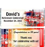 Fire Department Retirement Candy Wrappers