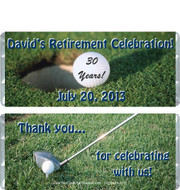 Golf 2 Retirement Candy Wrappers