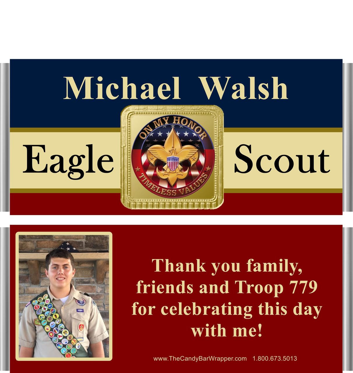 Eagle Scout Candy Wrappers At The Candy Bar Wrapper