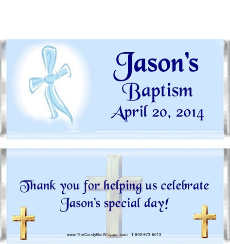 Personalized Baptism Candy Wrappers