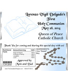 First Holy Communion Candy Bar