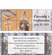 Confirmation Chocolate Bar Favors