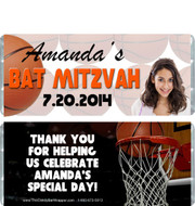 Basketball Bat Mitzvah Candy Wrappers