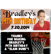 Basketball Birthday Boy Candy Wrappers