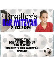 Soccer Bar Mitzvah Candy Wrappers