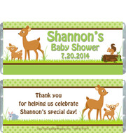 Forest Friends Baby Shower Candy Wrappers