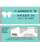 Tiffany 2 Sweet Sixteen Candy Wrappers