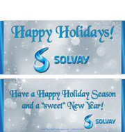 Logo Silver Holiday Candy Wrappers