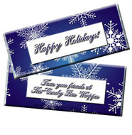 Blue Snowflakes Candy Bar Wrappers