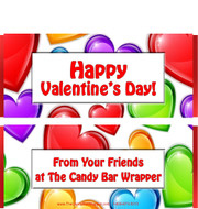 Valentine Chocolate Bar Wrappers