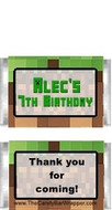 Minecraft Mini Candy Bars