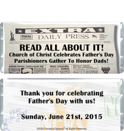Happy Father's Day Chocolate Bar Wrappers