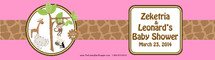 Pink Jungle Water Bottle Labels