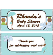 Modern Blue Baby Shower Candy Wrappers