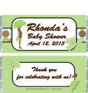 Modern Green Baby Shower Candy Wrappers