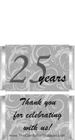 Mini 25th Anniversary Candy Bars