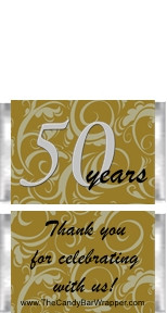 Mini 50th Anniversary Candy Bars
