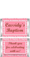 Mini Baptism Pink Chocolate Bars