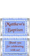 Mini Baptism Blue Chocolate Bars