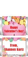 Mini Conversation Hearts Candy Bars