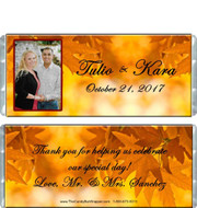 Fall Wedding Favors Candy Wrappers