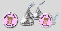 Bee Baby Pink Baby Shower Hershey Kisses